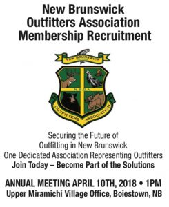 NBOA Membership Recruitment – Securing the Future of Outfitting in New Brunswick